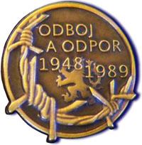 odznak účastníka odboje a odporu proti komunismu