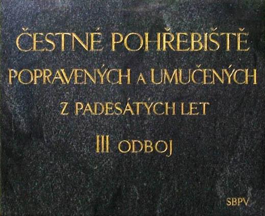 Čestné pohřebiště III. odboje v Praze Ďáblicích